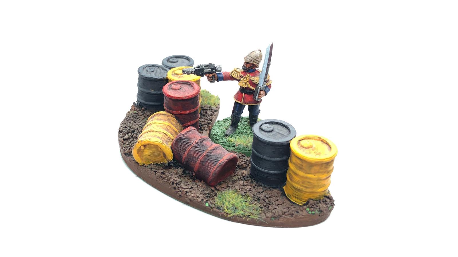 Praetorian Guard behind 3D-printed barricade