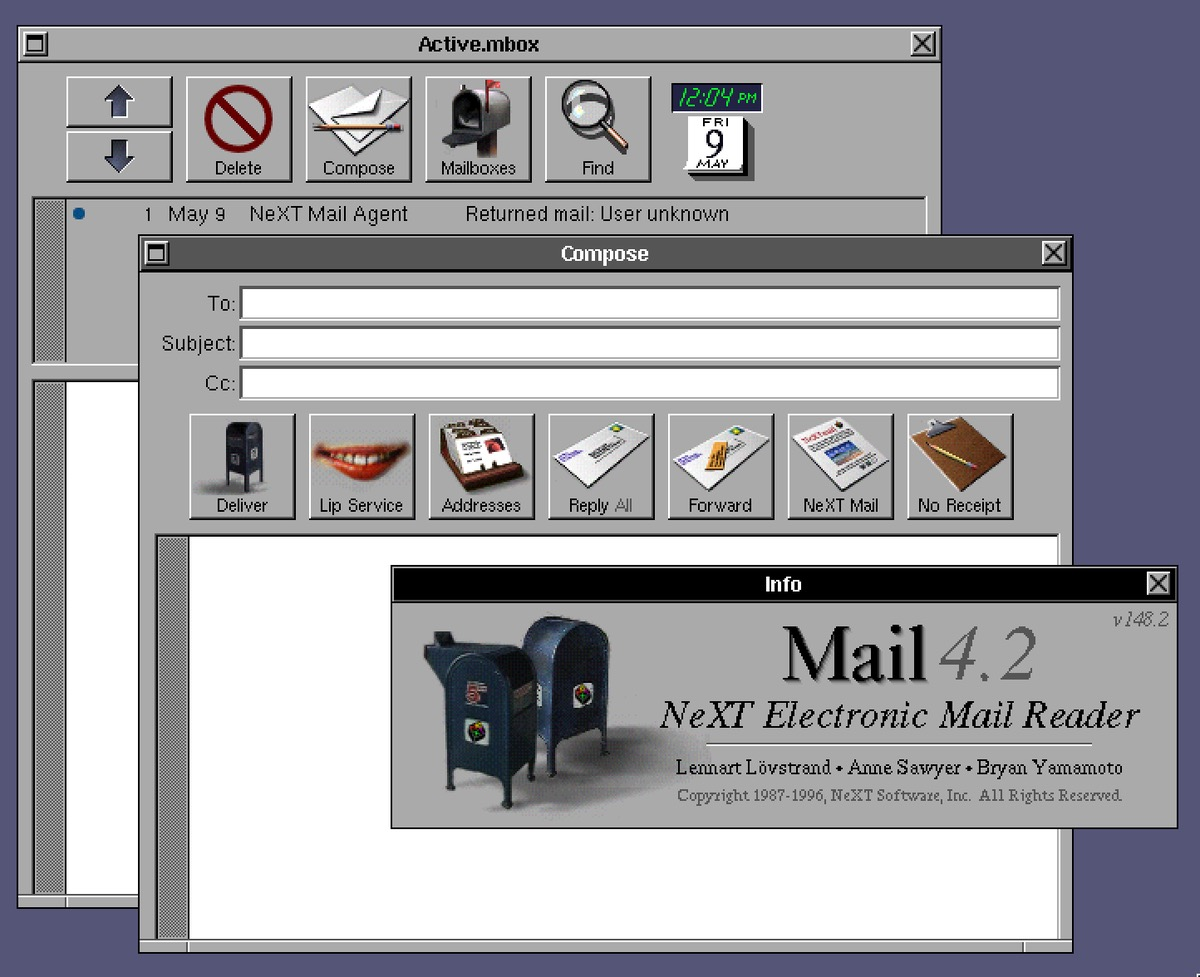Mail on OPENSTEP