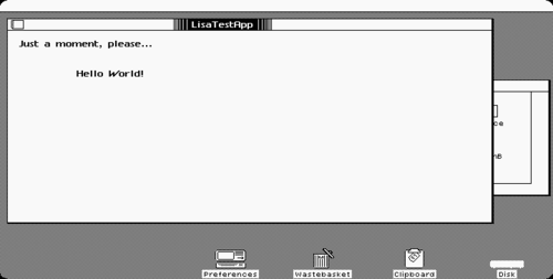 Program running on the Lisa desktop
