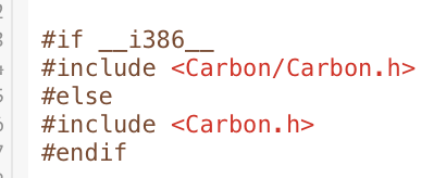 Carbon ifdef